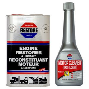 COMBINED OFFER! Ametech RESTORE Oil and Flush for 4 litre engine